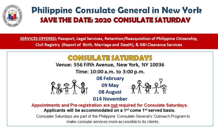 2020 Consulate Saturday