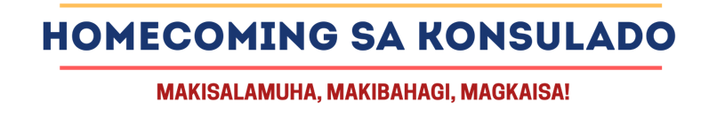 Homecoming sa Konsulado is a gathering of alumni from Philippine colleges and universities.