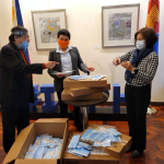Philippine Consul General in New York  Receives PPE Donation