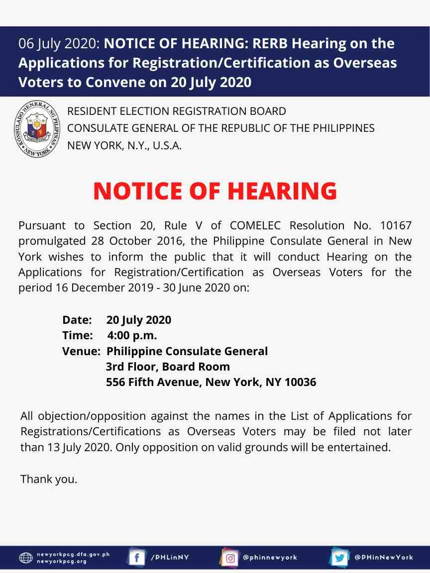 Notice RERB Hearing 070220
