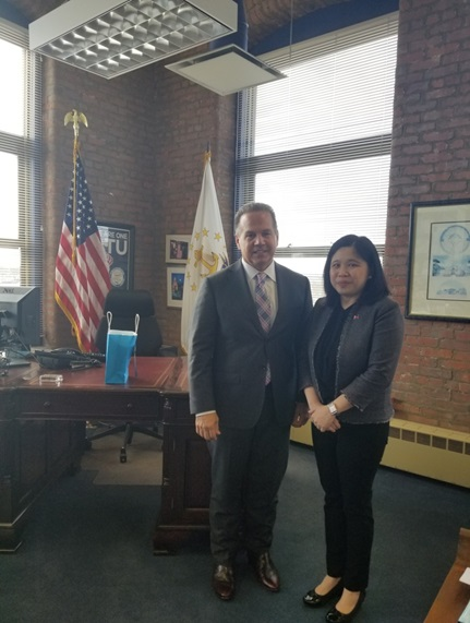 Philippine Consul General Meets US Congressman Cicilline of Rhode Island