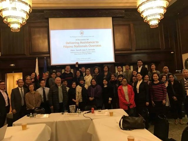 NEW YORK CONSULATE HOLDS TOWNHALL ON ASSISTANCE TO NATIONALS WITH DFA USEC ARRIOLA
