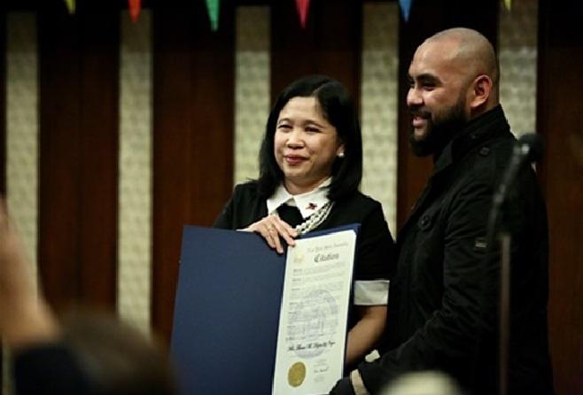 Consul General Dizon-De Vega Honored by Manhattan Borough President and New York State Assemblyman