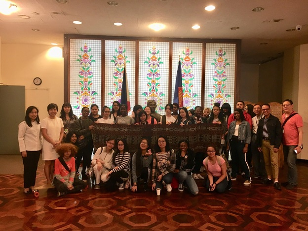 PCG New York Briefs the High School of Fashion Industries in New York on Philippine Fabric, Culture and Trade