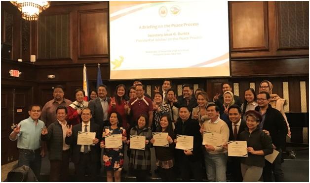 Secretary Jesus Dureza Updates Fil-Am Community in New York on  Peace Developments in the Philippines