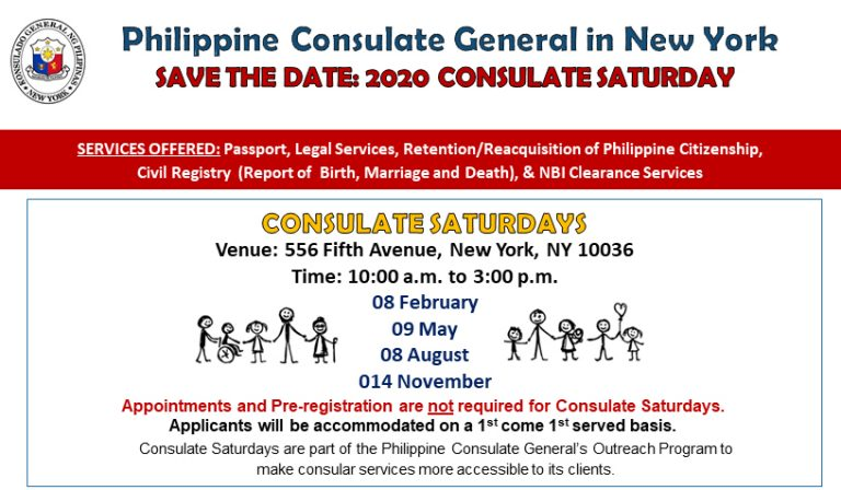 2020 Consulate Saturday