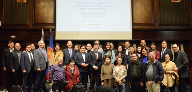 Forum on LRA Functions and Land Titling Updates in the Philippines Held in New York