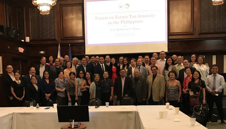 Forum on Estate Tax Amnesty in the Philippines Held in New York