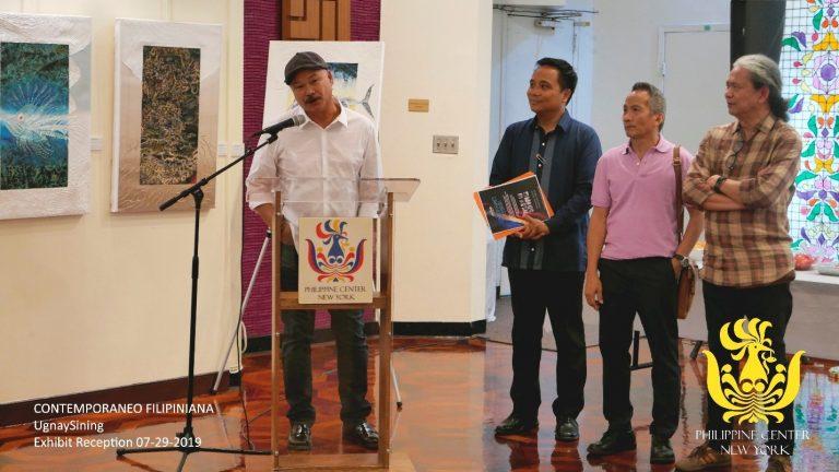 UgnaySining's Contemporaneo Filipiniana Artworks Displayed  at The Philippine Center New York