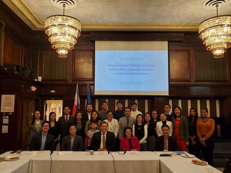 Philippine Consulate Hosts Networking Event for Filipino Lawyers  Taking Post-Graduate Studies in the US Northeast