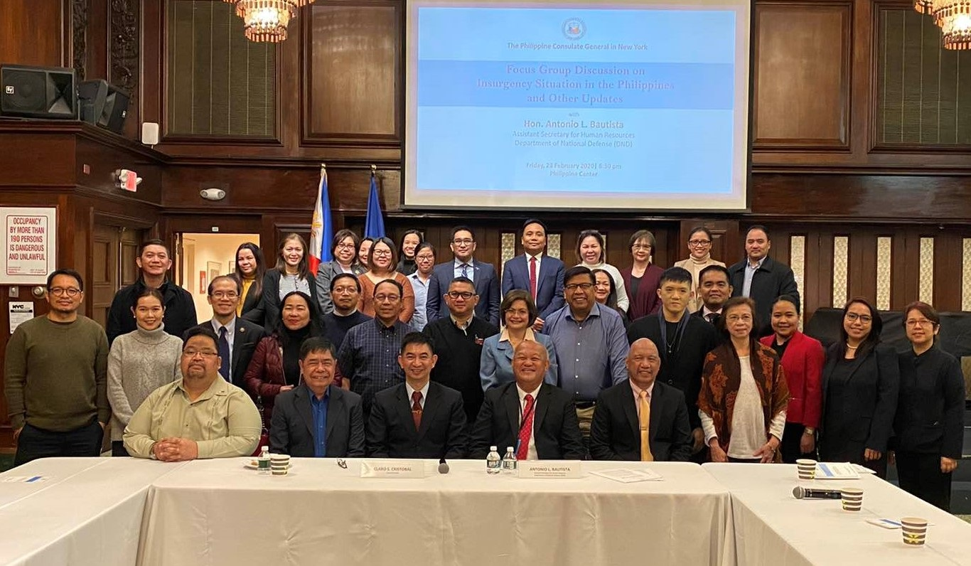 Forum on Insurgency Situation in the Philippines and Other Updates Held in New York