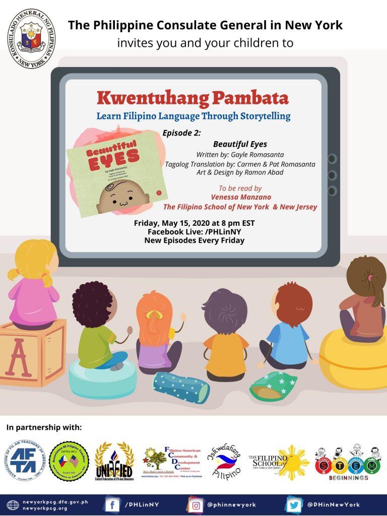 """""""Kwentuhang Pambata: Learning Filipino Language Through Storytelling"""" Episode 2: Beautiful Eyes"""