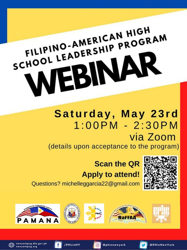 Filipino-American High School Leadership Program Webinar