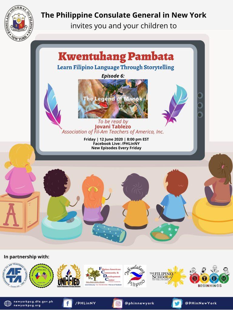 """""""Kwentuhang Pambata: Learning Filipino Language Through Storytelling"""" Episode 6: Legend of Manok"""