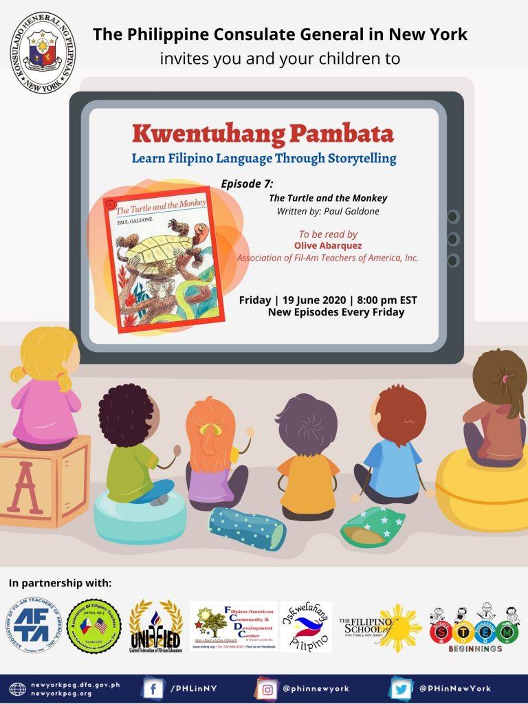"""Kwentuhang Pambata: Learning Filipino Language Through Storytelling"" Episode 7: The Turtle and the Monkey"