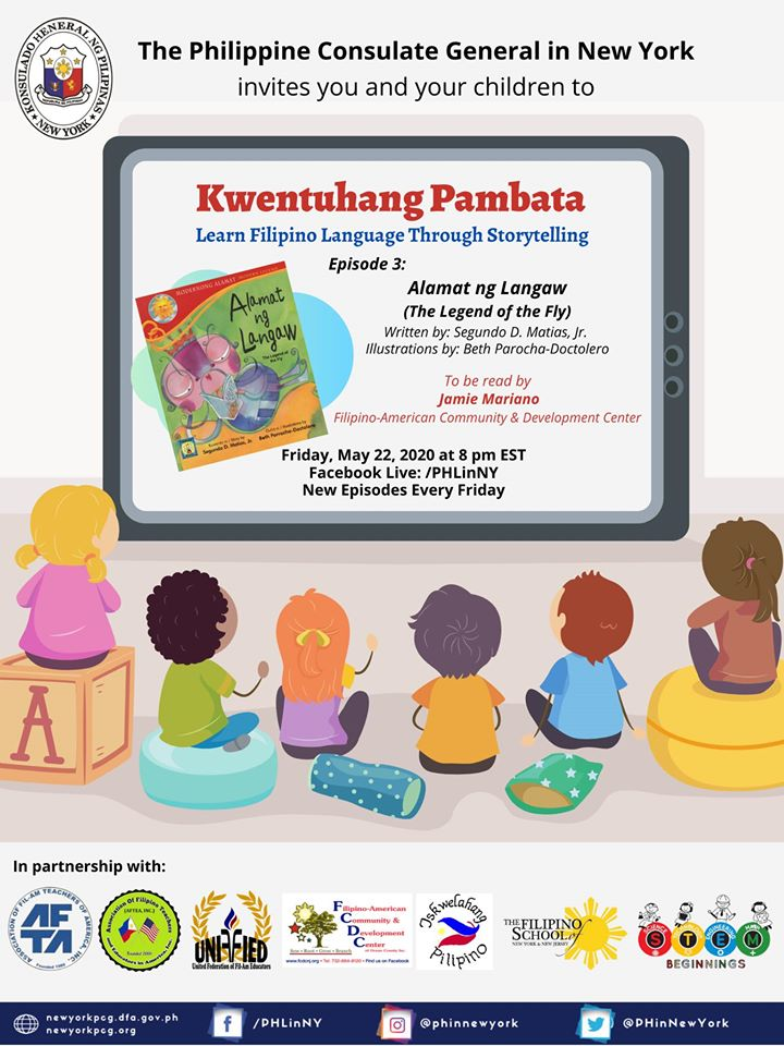 """Kwentuhang Pambata: Learning Filipino Language Through Storytelling"" Episode 3: Alamat ng Langaw (The Legend of the Fly)"