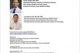 Filipino American Health Forum on Covid-19 Part 8: Covid-19 in Healthcare Workers Post ICU Syndrome
