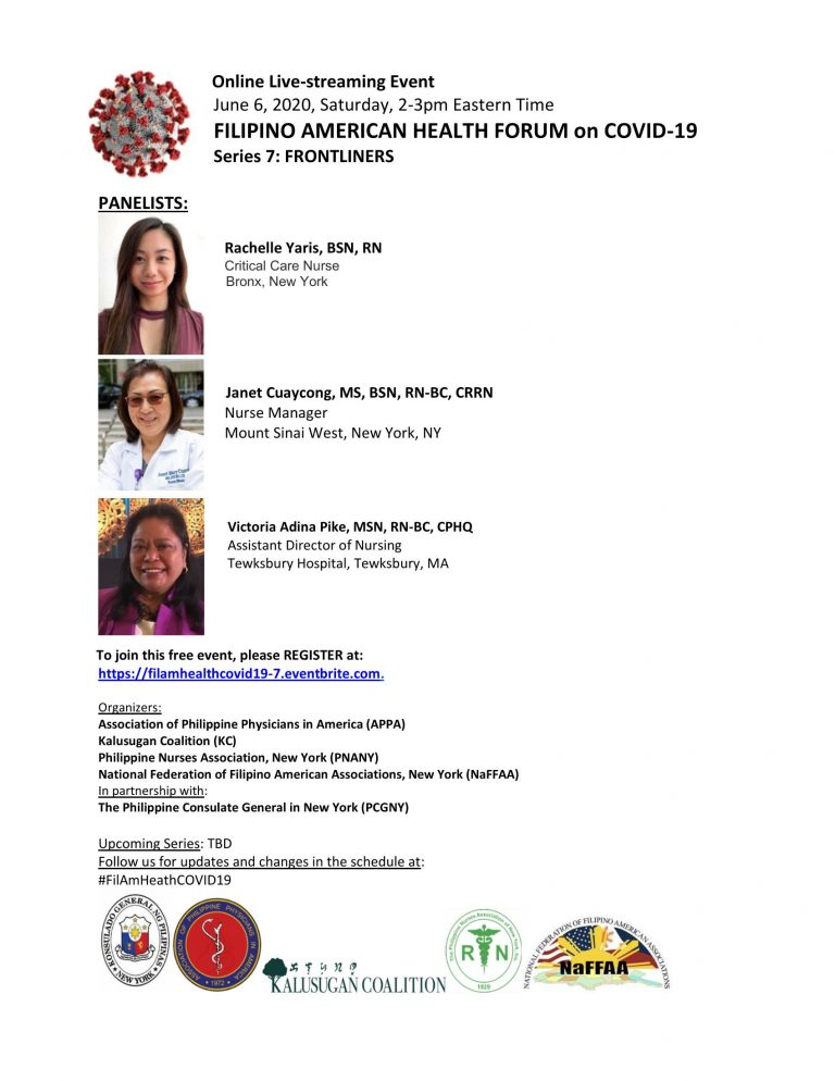 Filipino American Health Forum on Covid-19 Part 7: Frontliners